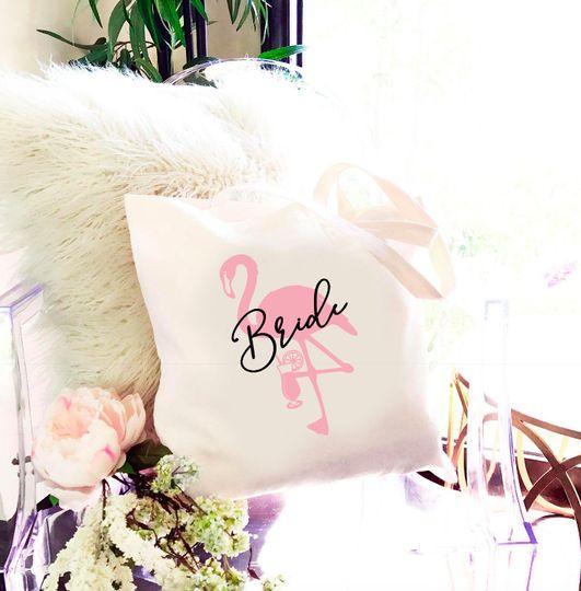 Flamingo Bride Tote Bag