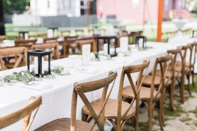 Tables await