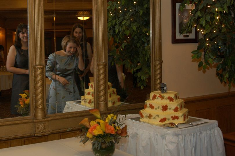 cake in mirror
