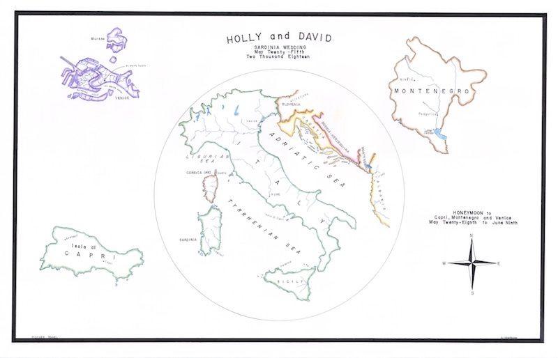 Wedding and Honeymoon Map