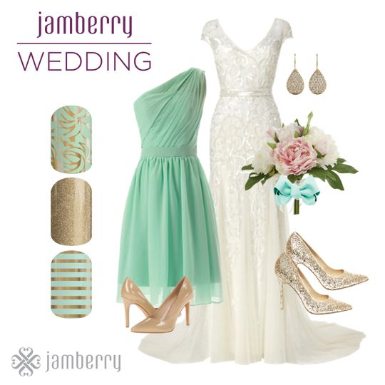 jamberry wedding mint green