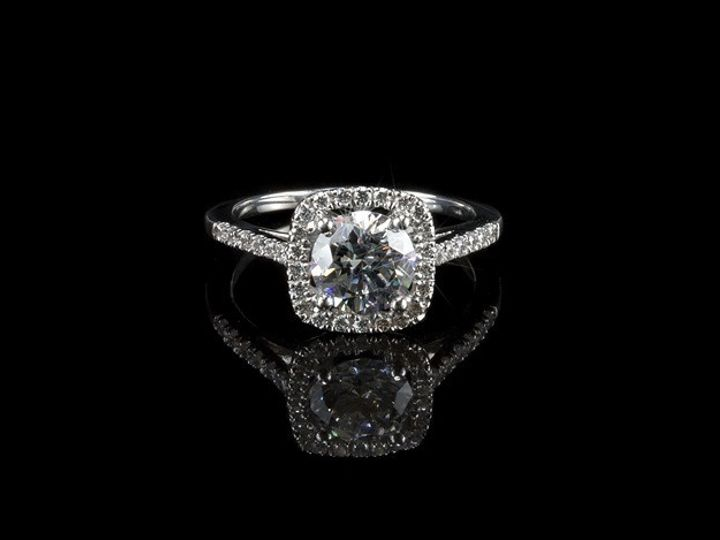 Tmx 1415828707850 Aret Square Halo Bigflare750x467 Farmingdale wedding jewelry