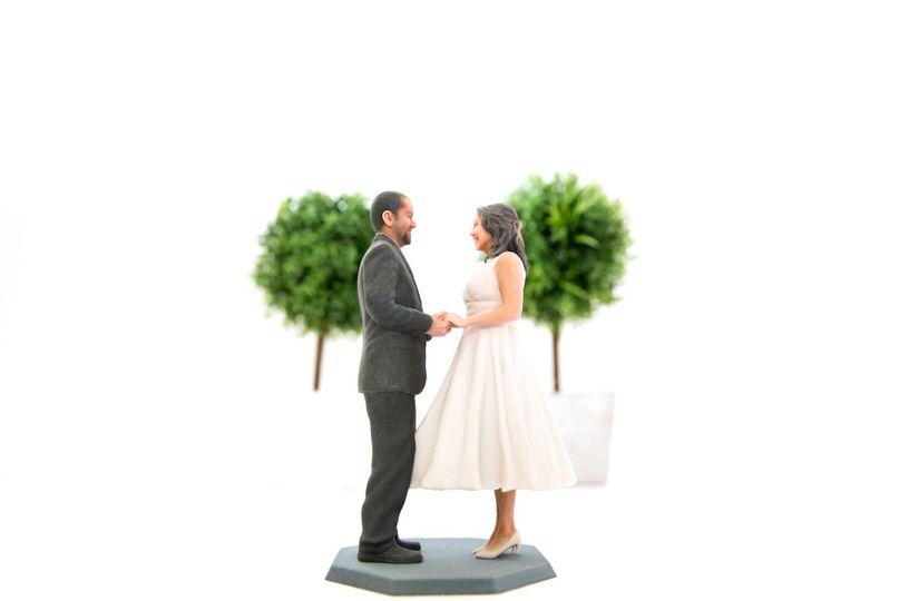 Custom a wedding Cake Topper