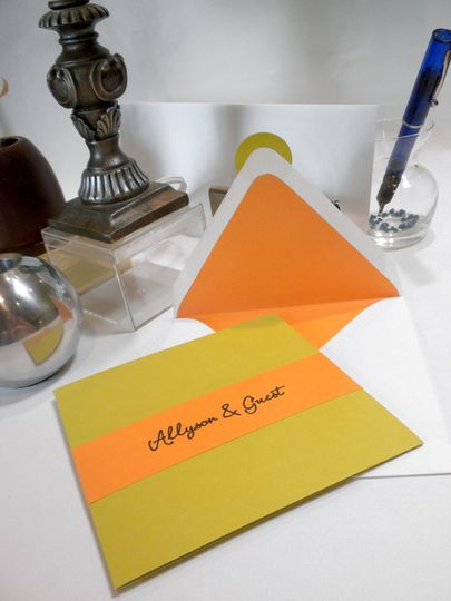 Yellow invitation