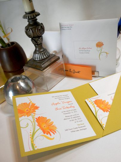 Inside of the invitation