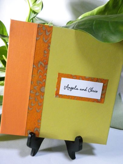 Add a coordinating guest book to your order and invite your guests to share in making memories of...