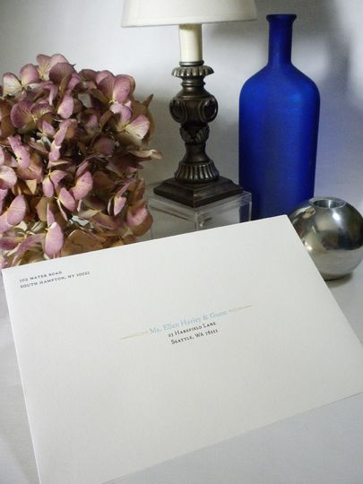 Plain white invitation