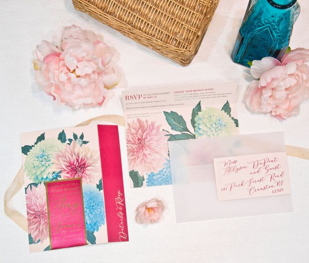 Botanical Shower Invitation