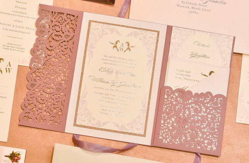 Laser Cut Invite with Foiling