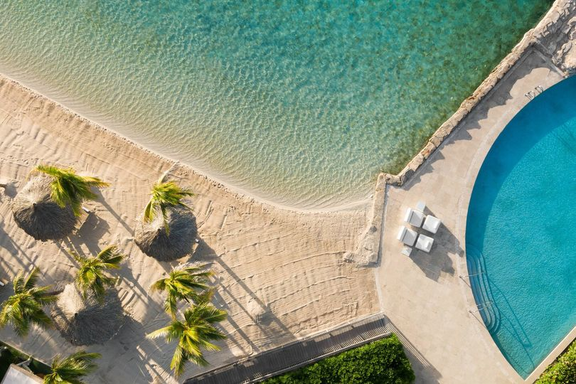 Beach and outdoor pool