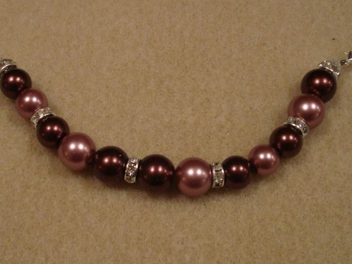 Tmx 1373333581815 Brown And Pink Pearl Beads With Swarovksi Crystals Lobster Clasp Sarasota wedding jewelry