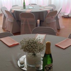 Table decor with table and chair setup