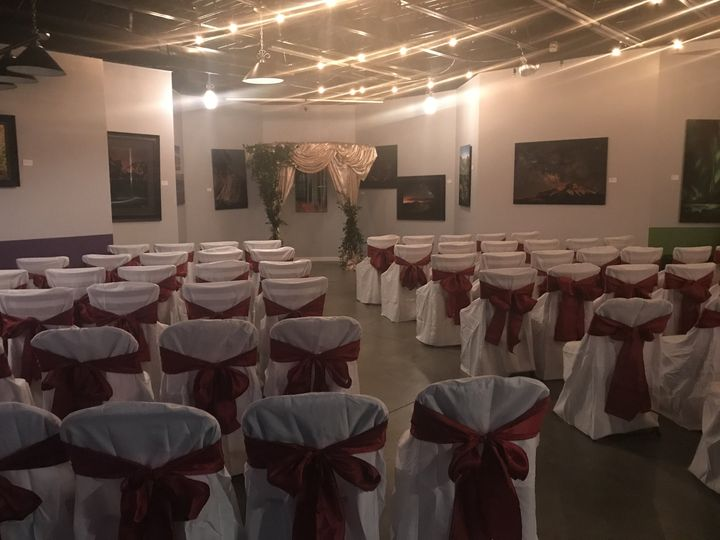 Indoor wedding ceremony lounge