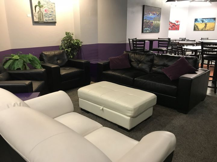 Comfy couches in lounge
