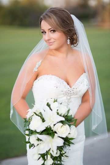 Bridal portrait, Brentwood wedding