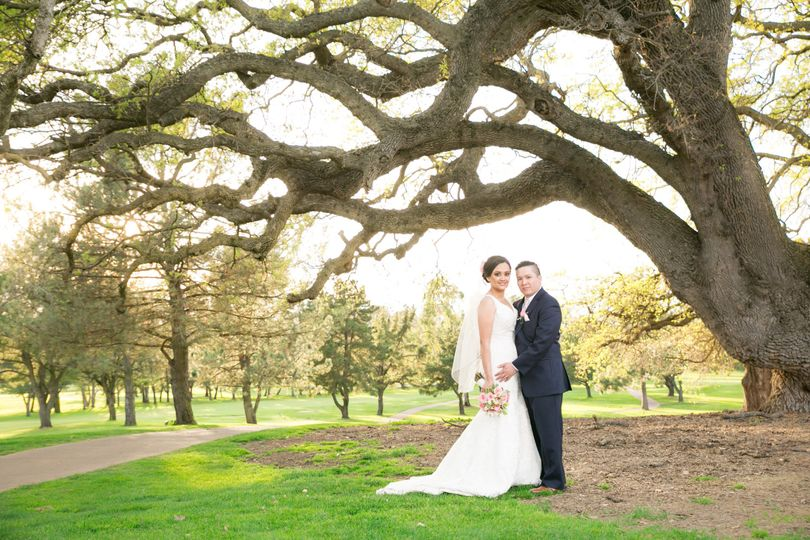 Boundary Oaks wedding, Walnut Creek, bride and groom portrait
