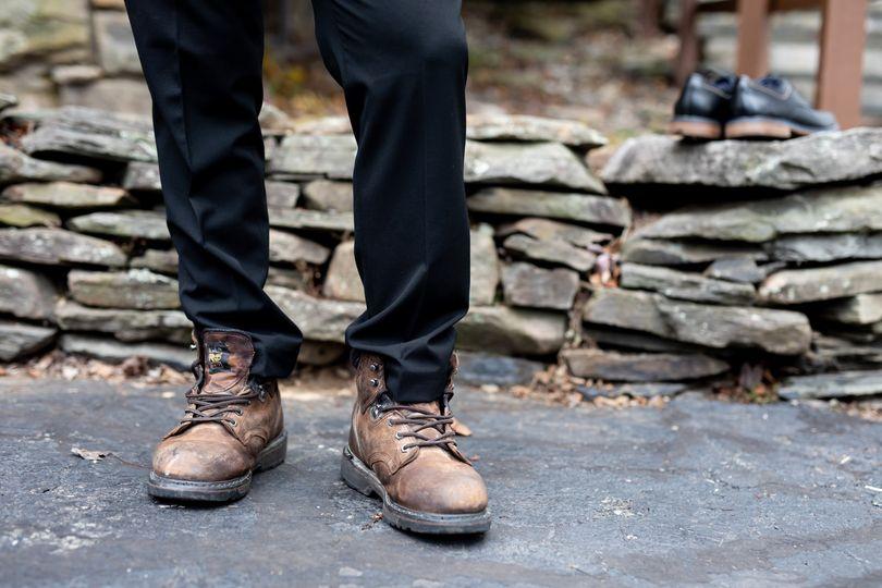 Groom boots, rugged