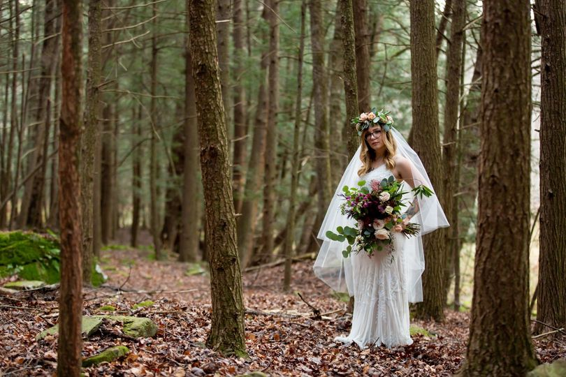 Bride enchanted forest