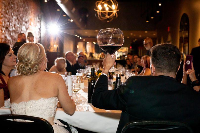 Reception, wine glass