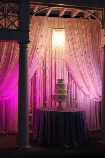 PDA provided lighting, sound and staging for this wedding at the William Aiken House in Charleston,...