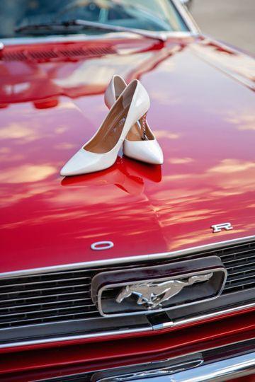 Classic, vintage muscle car