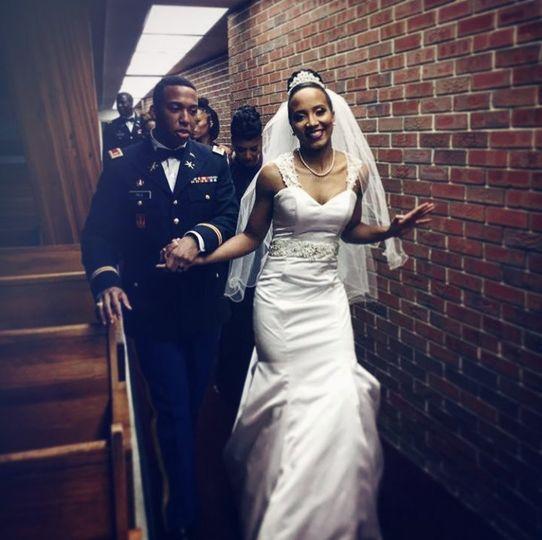 Military Wedding/great couple