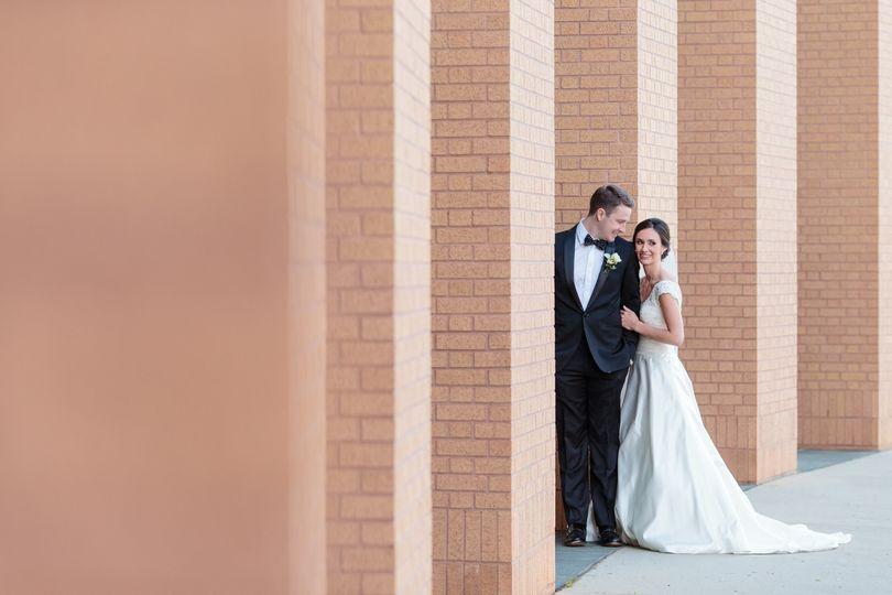 outdoor summer wedding greenville museum downtown