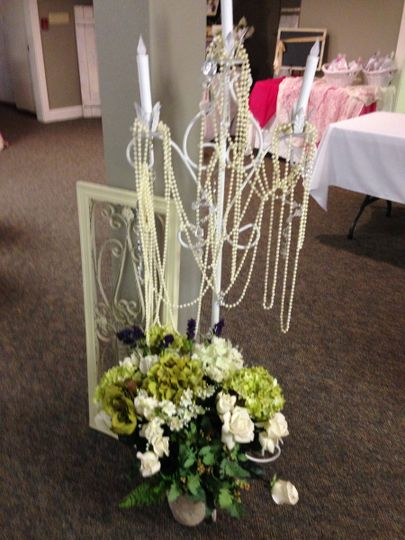 Bouquet and candelabra