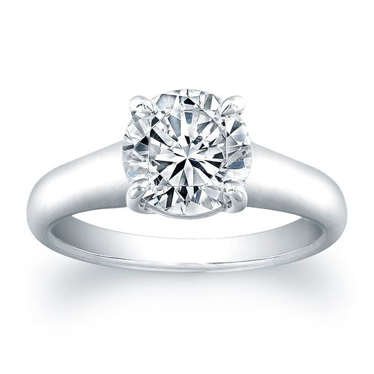 Vatche X Prong Solitaire Engagement Ring This simple yet stylish solitaire engagement...