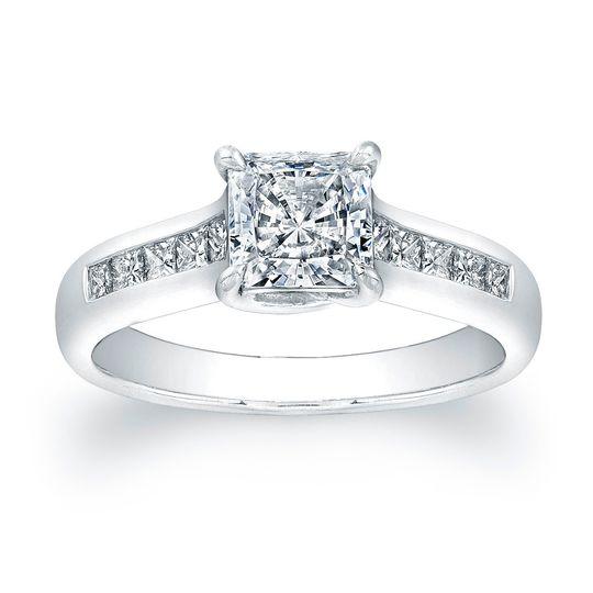 Vatche Channel-Set Princess Cut X Prong Diamond Engagement RingThis stylish engagement...