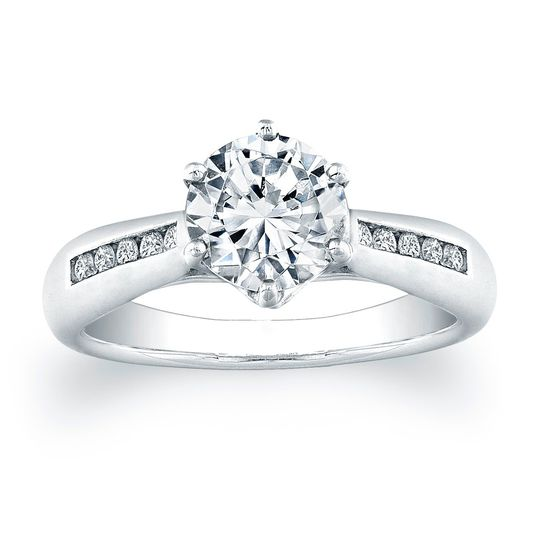 Vatche Channel-set Royal Crown Engagement Ring .15ct twThis sleek and stylish engagement...