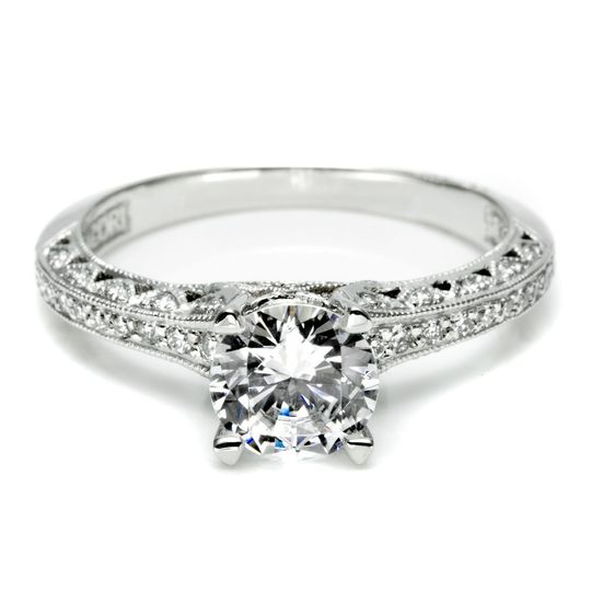 Tacori Pave Diamond Engagement RingThis pave engagement ring setting is crafted by hand...