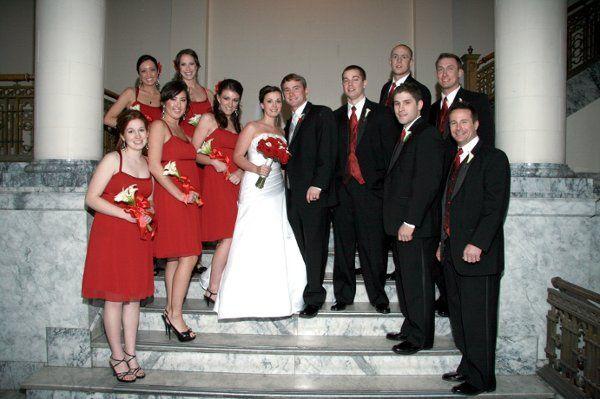 bridal party at the spokane masonic center