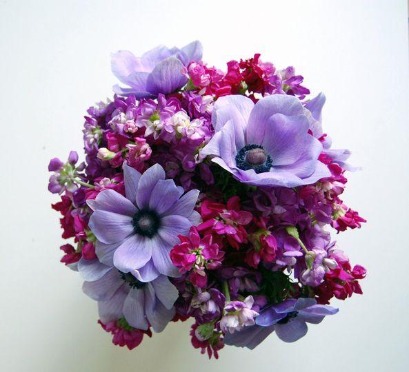 purple bouquet, purple anemones, stock, lavender, bugundy, purple, brooklyn florist, new york city...