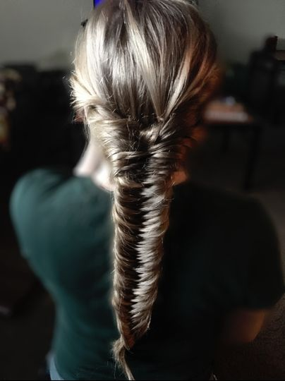 Thick french fishtail