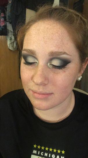 Dark and dramatic cut crease