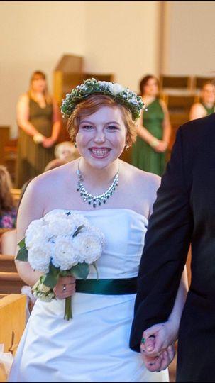 Makeup on a spring bride!