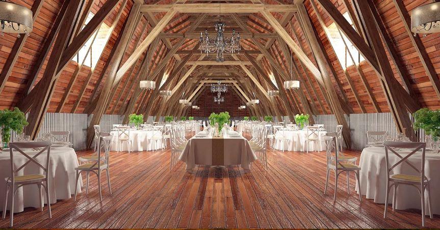 Rendering of Barn interior.