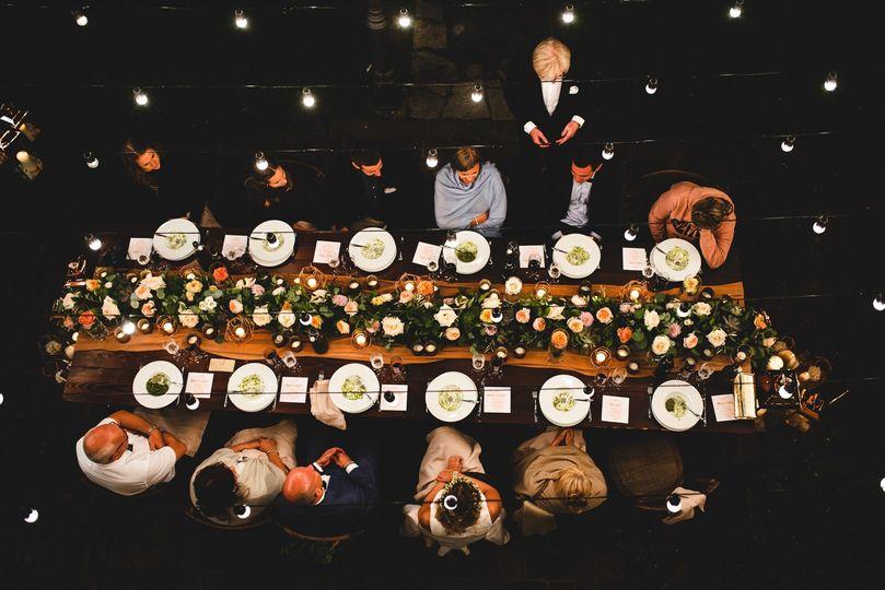 Dinner wedding Villa Olimpia