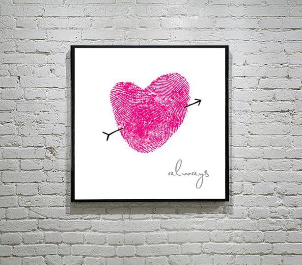 thumbkins square poster english hot pink