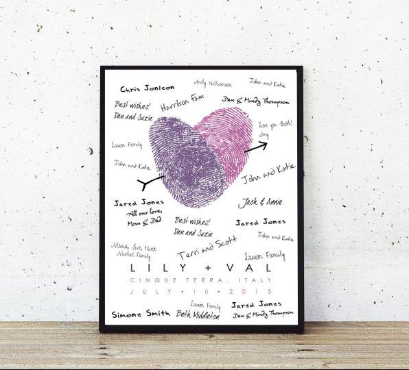 thumprint poster white concrete lavendar and viole