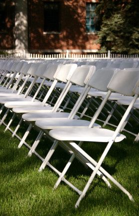 wedding white folding chairs for rent