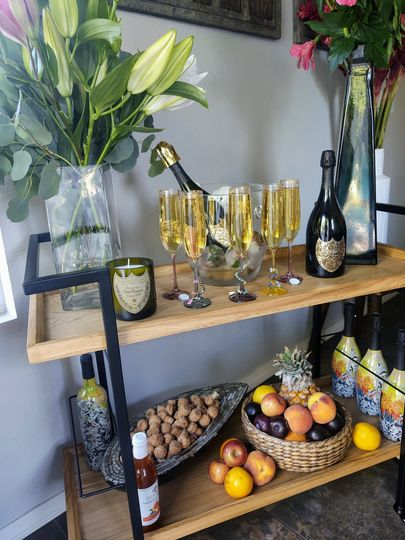 Mobile Champagne cart
