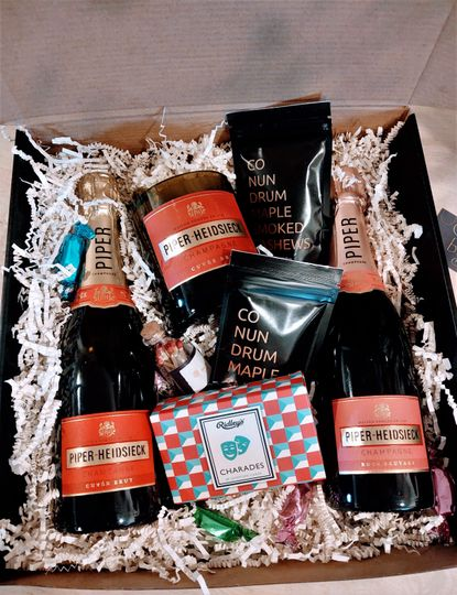 Two half size champagne gift