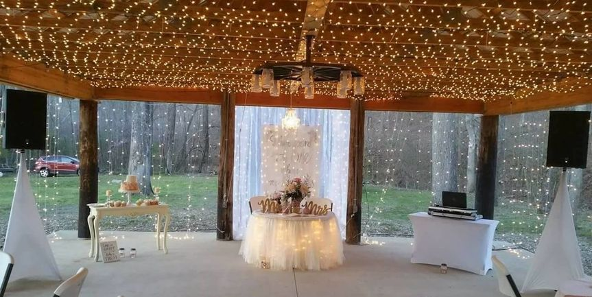 Reception hall and DJ booth