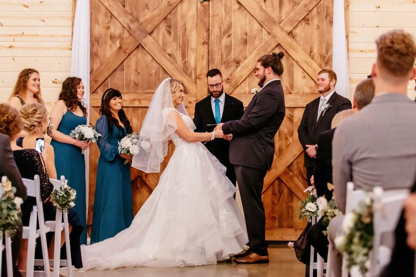 Wedding at the alter