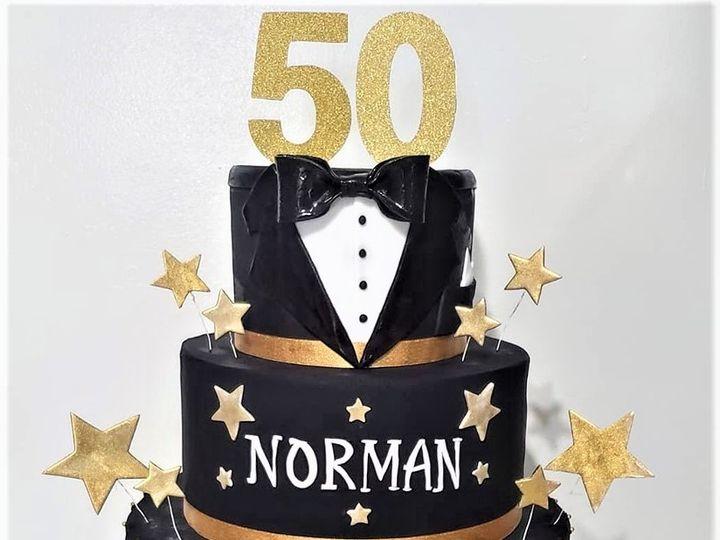 Tmx 50th Birthday Cake 51 166751 1568652023 Virginia Beach, Virginia wedding cake
