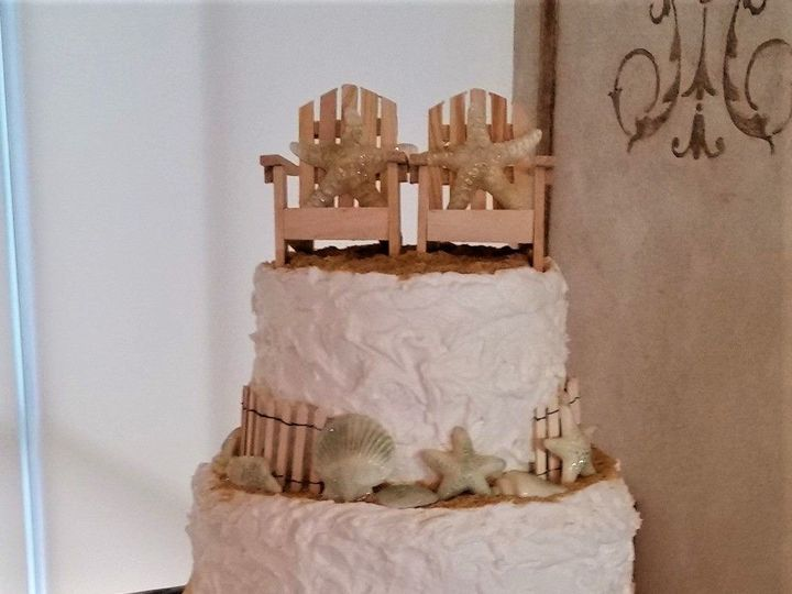 Tmx Beach Wedding Cake 2 51 166751 1568652022 Virginia Beach, Virginia wedding cake