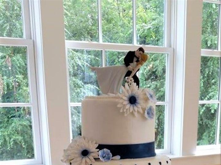 Tmx Blue Daisy Wedding Cake 51 166751 1568652029 Virginia Beach, Virginia wedding cake