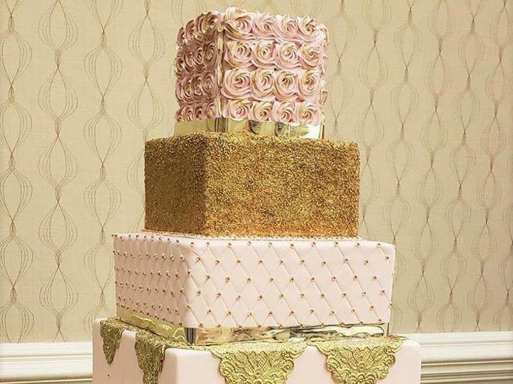 Tmx Blush And Gold Square Wedding Cake 51 166751 1568652031 Virginia Beach, Virginia wedding cake